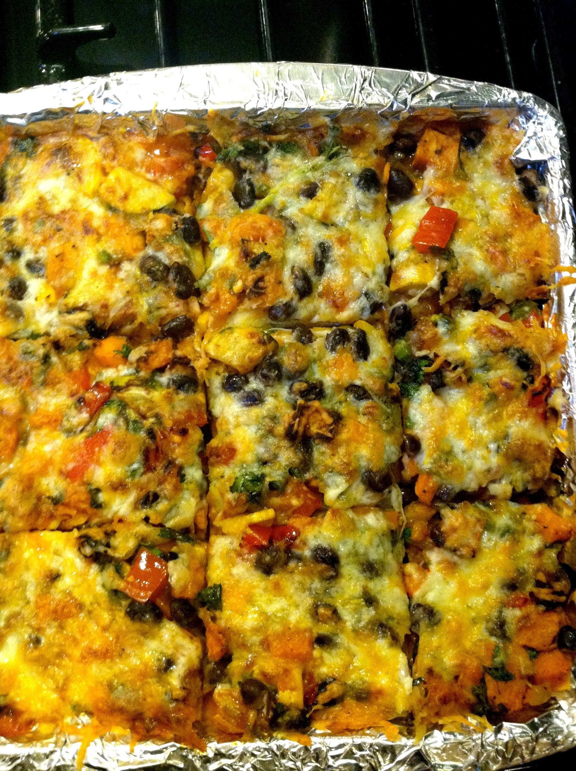 Roasted Vegetable Stacked Enchiladas | eat.laugh.craft