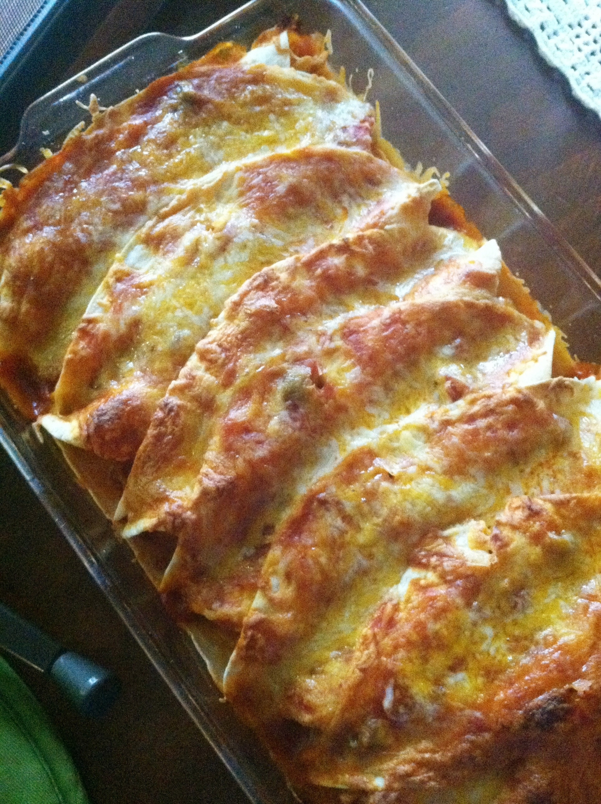 Easy Cheesy Chicken Enchiladas | eat.laugh.craft