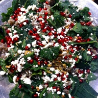 POMEGRANATE, KALE, AND WILD RICE SALAD