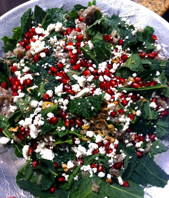 POMEGRANATE, KALE, AND WILD RICE SALAD | eat.laugh.craft