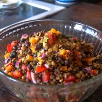 Lentil & Black Bean Salad with Spicy Lime Dressing