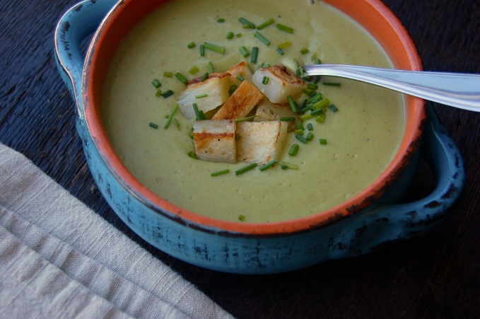 Creamy Potato Leek Soup 5
