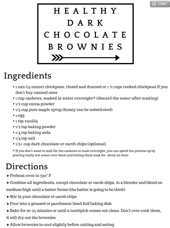 Healthy Grain Free Brownie Recipe