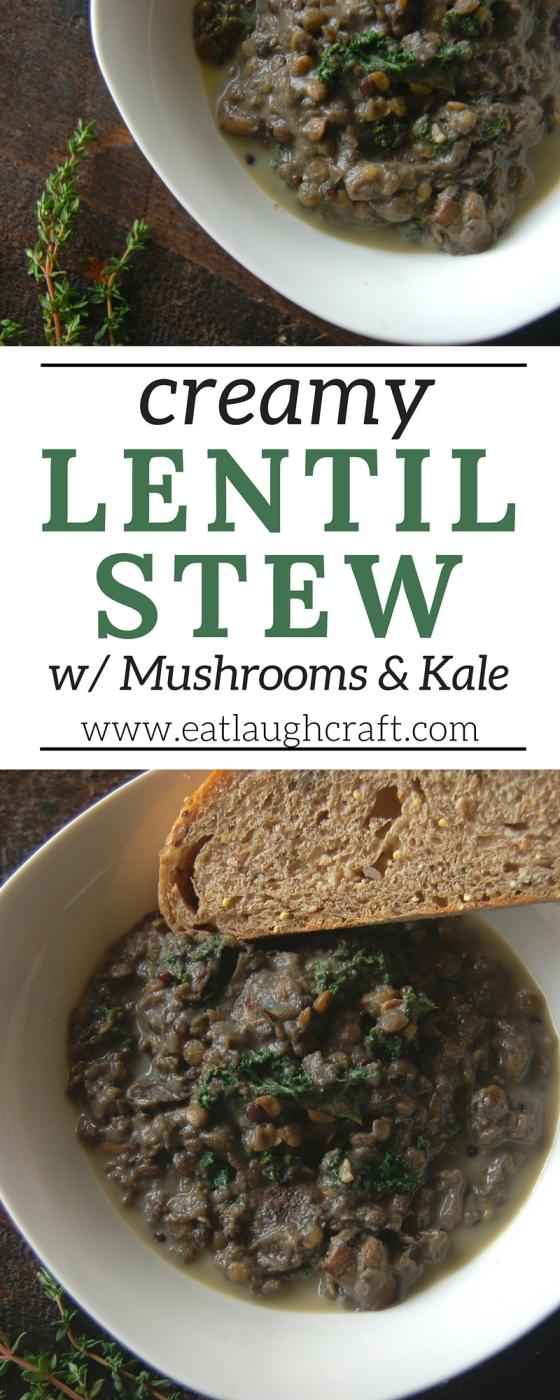 Creamy Lentil Stew Pinterest