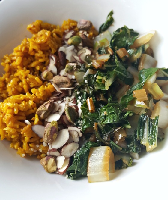 CSA WEEK 1 BOK CHOY & Tumeric Rice 2