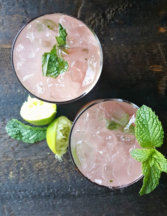 CSA WEEK 1 RHUBARB MINT MOJITOS