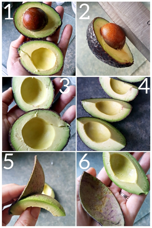 Steps to peeling an Avocado