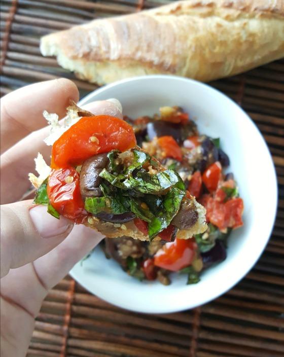 Eggplant Bruschetta 1