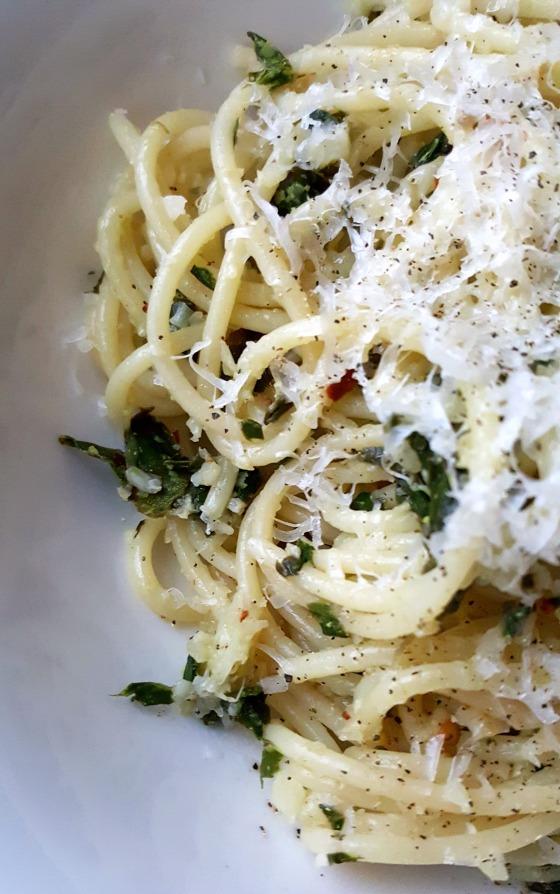 Riced Cauliflower & Chard Spaghetti 2